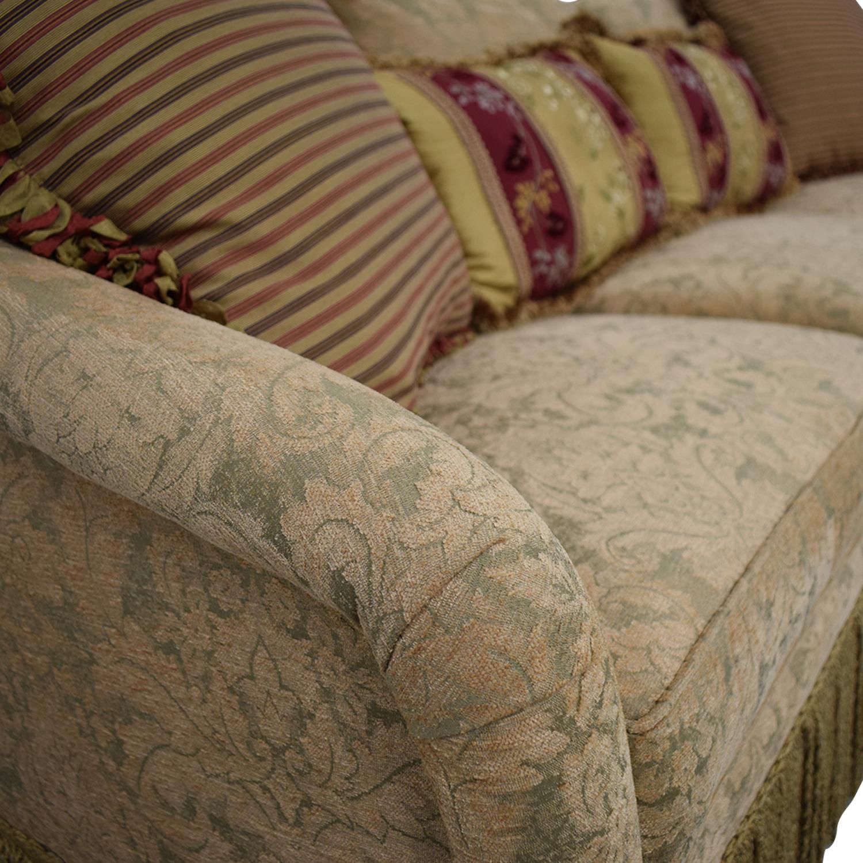 Hickory Chair Hickory Chair Three-Cushion Floral Sofa biege