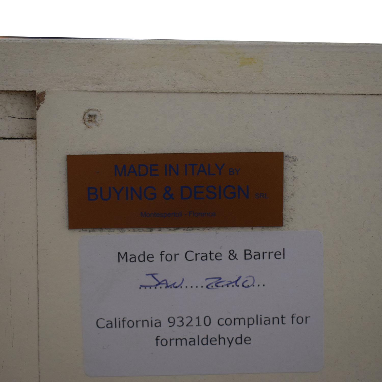 shop Crate & Barrel Harbor Grey Five-Drawer Chest Crate & Barrel Dressers