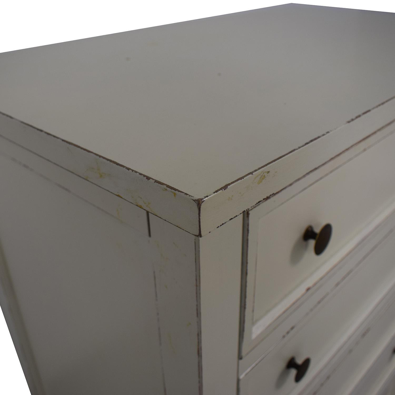 buy Crate & Barrel Harbor Grey Five-Drawer Chest Crate & Barrel Storage