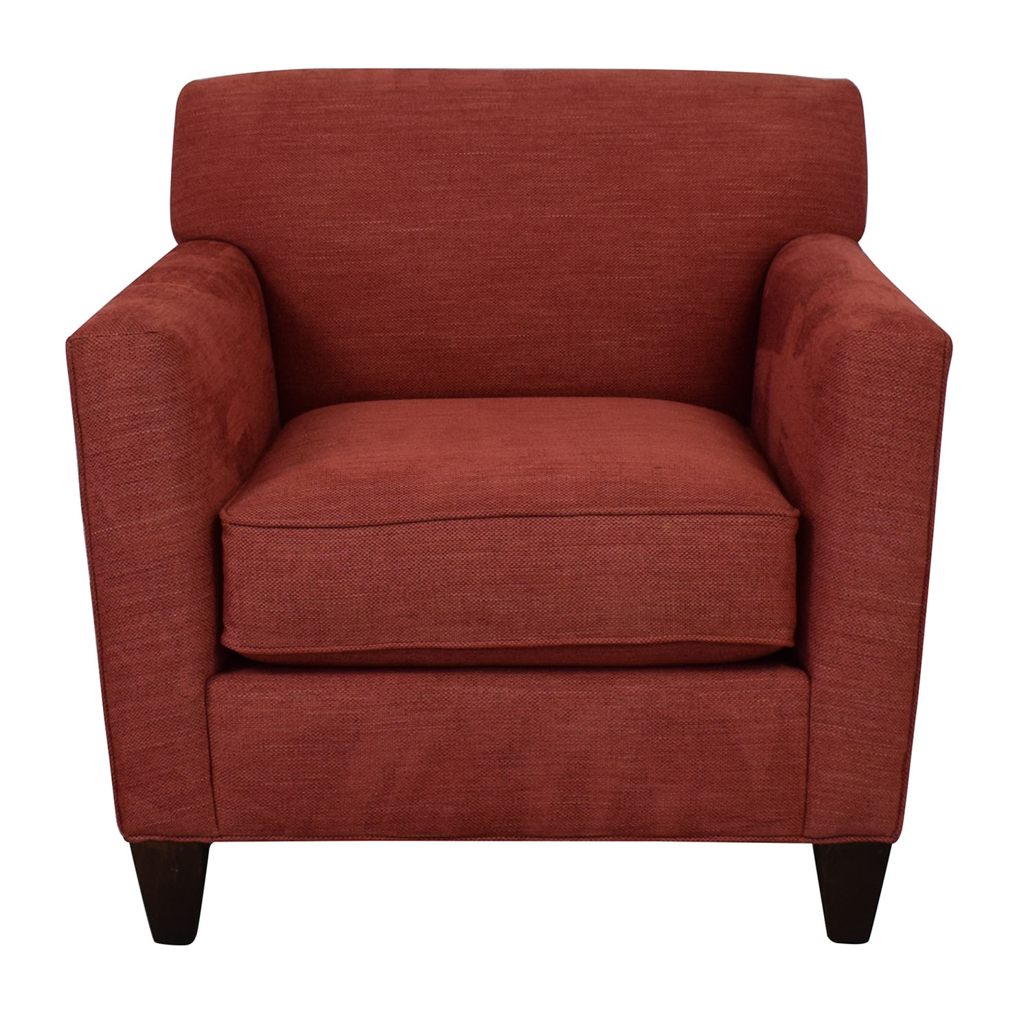 Crate & Barrel Crate & Barrel Hennessy Arm Chair red