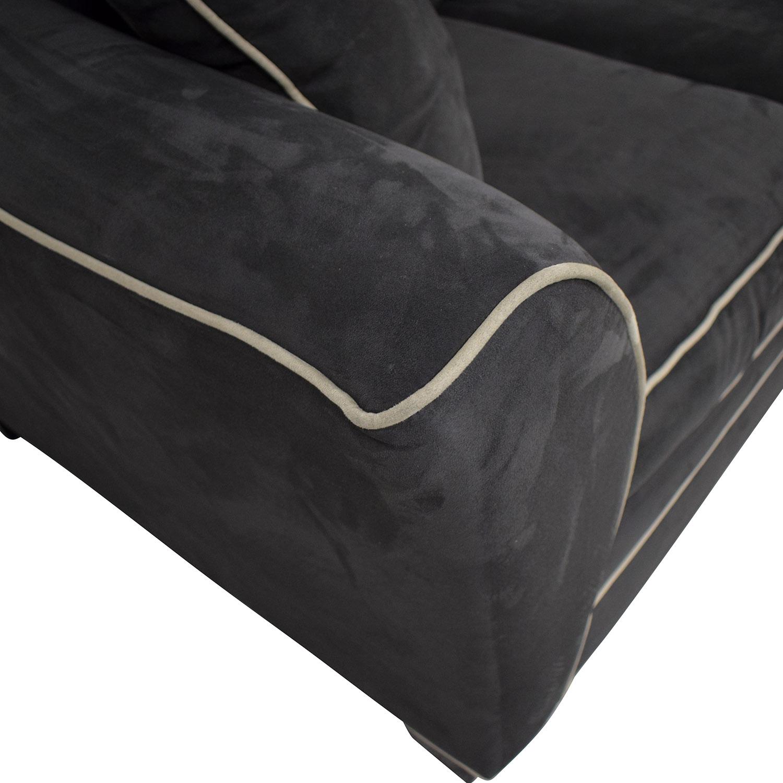 Raymour & Flanigan Raymour & Flanigan Briarwood Microfiber Sofa for sale