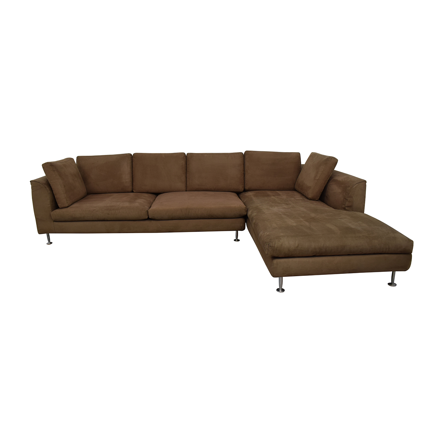 Brown Sectional Sofa With Chaise for sale