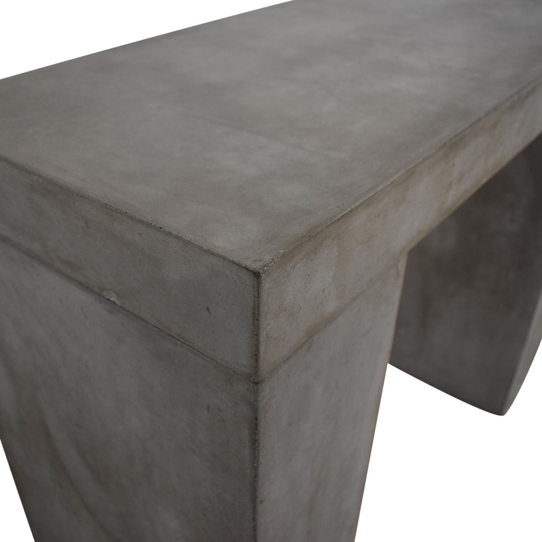 Rustic Concrete Console gray