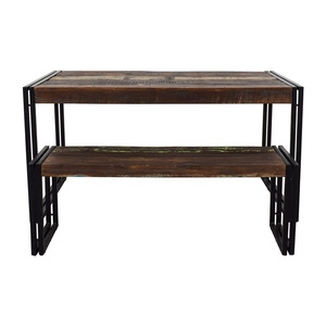Timbergirl Timbergirl Solid Reclaimed Wood Dining Table With Bench nj