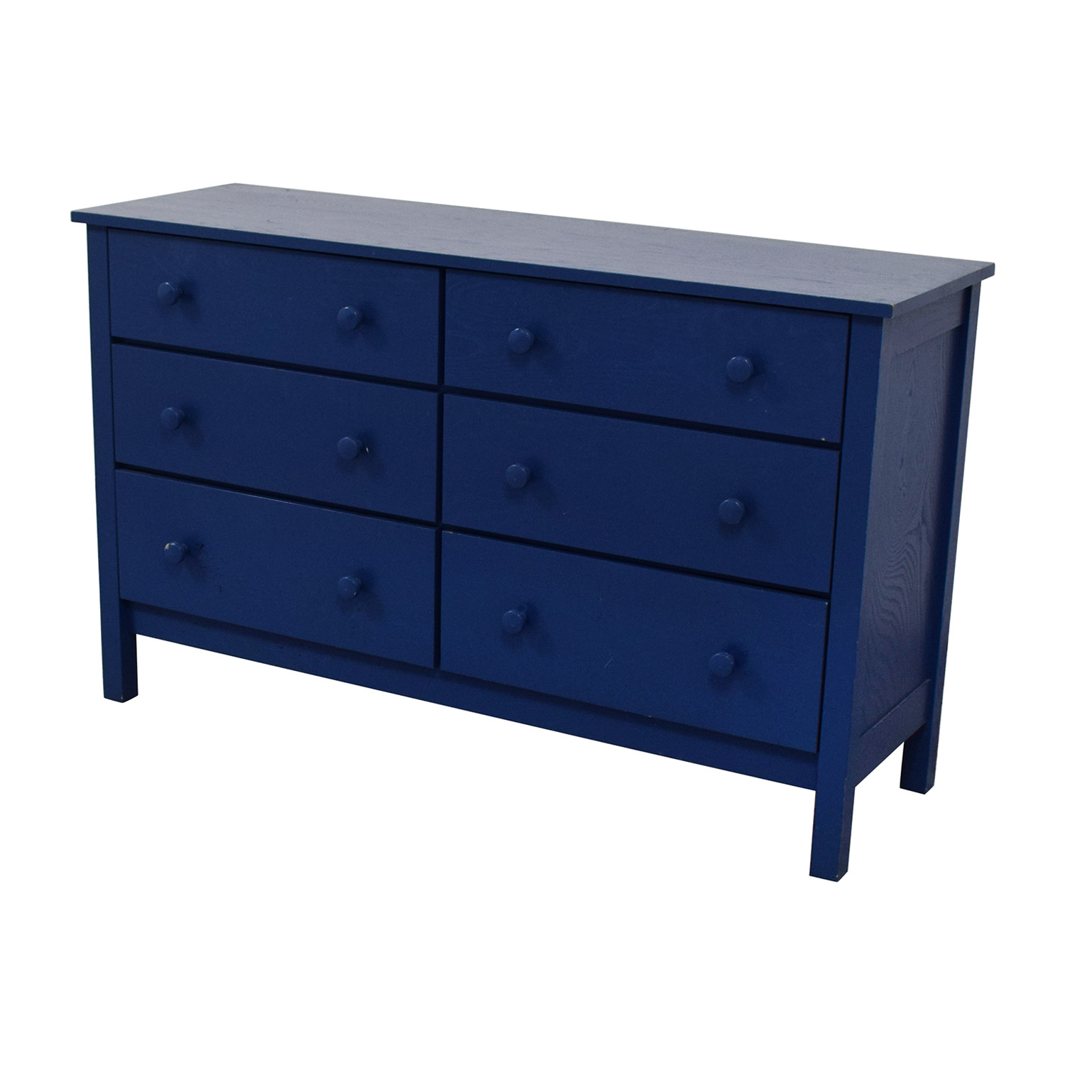 Spectra Wood Blue Six-Drawer Dresser