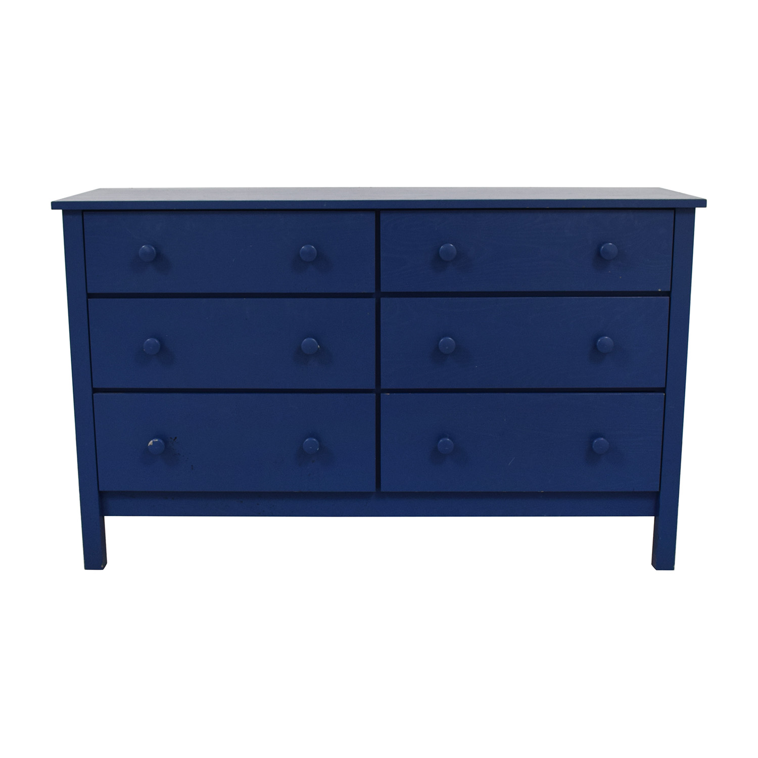 shop Spectra Wood Blue Six-Drawer Dresser