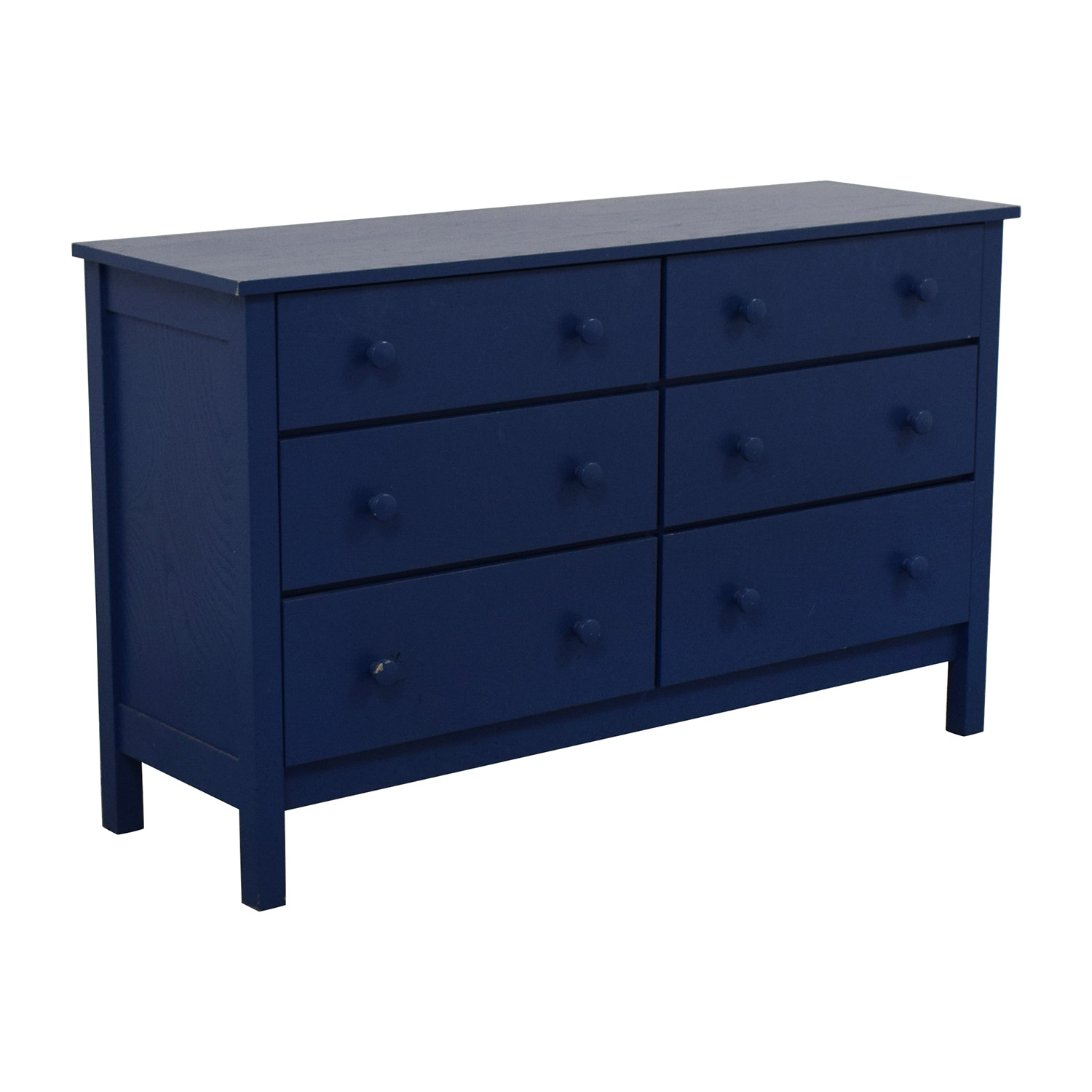 Spectra Wood Blue Six-Drawer Dresser blue