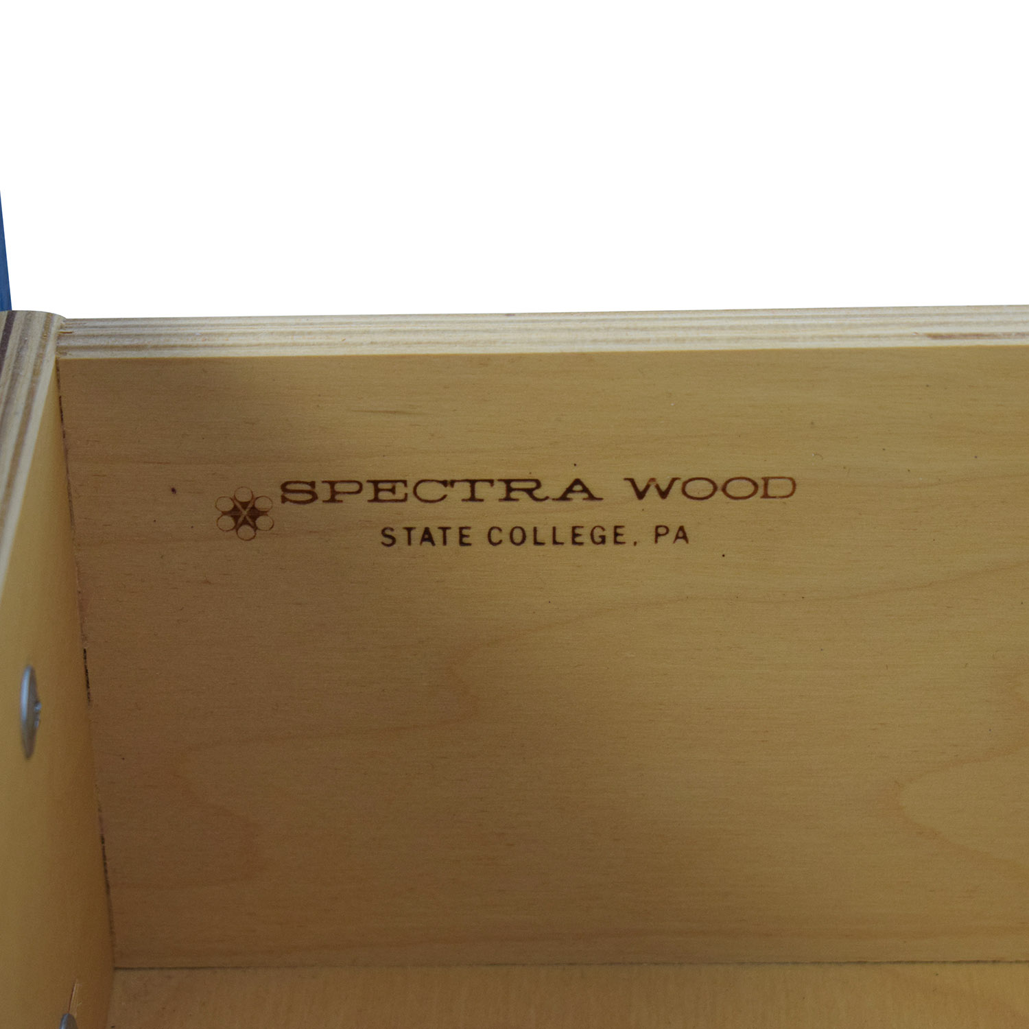 shop Spectra Wood Blue Six-Drawer Dresser  Storage