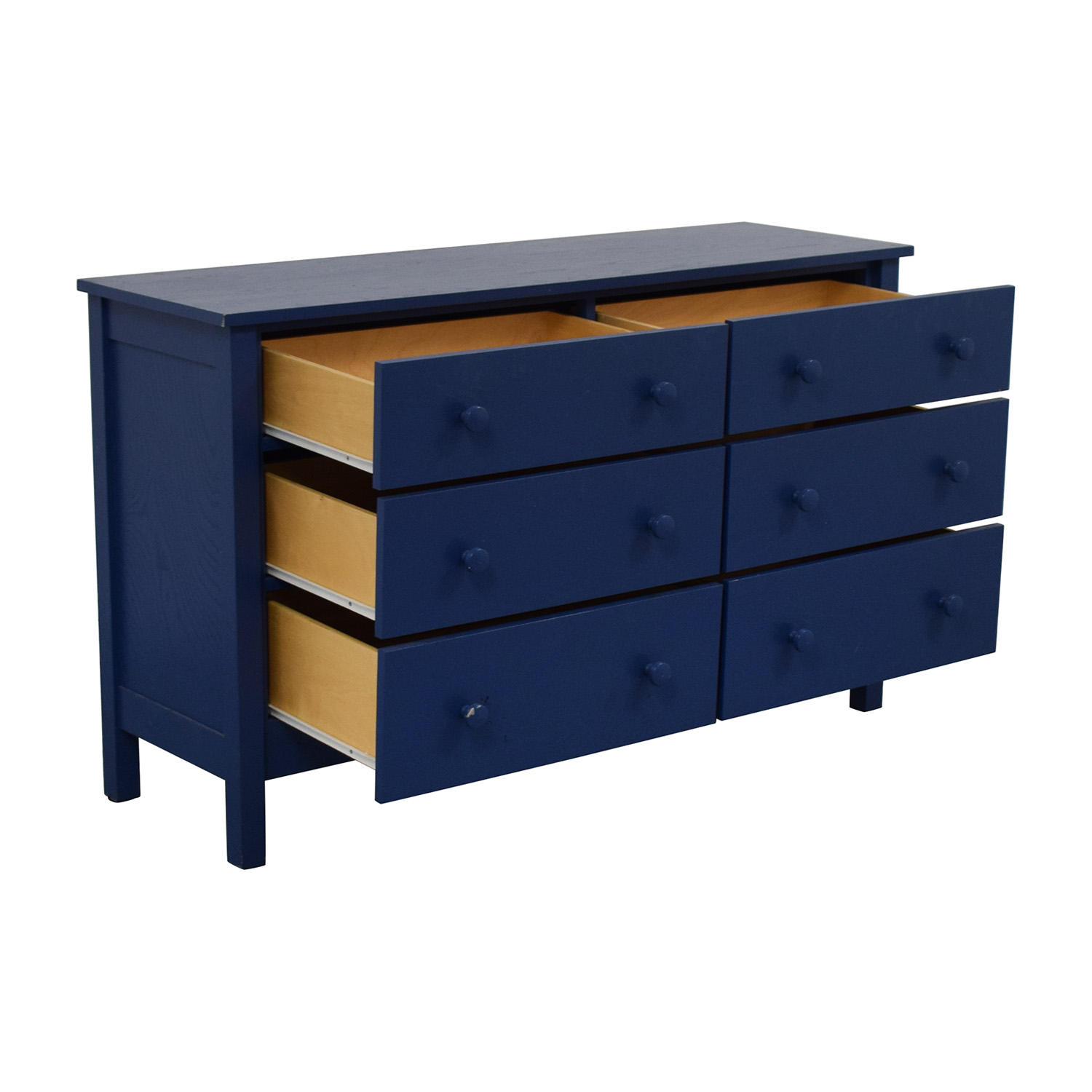 Spectra Wood Blue Six-Drawer Dresser Dressers