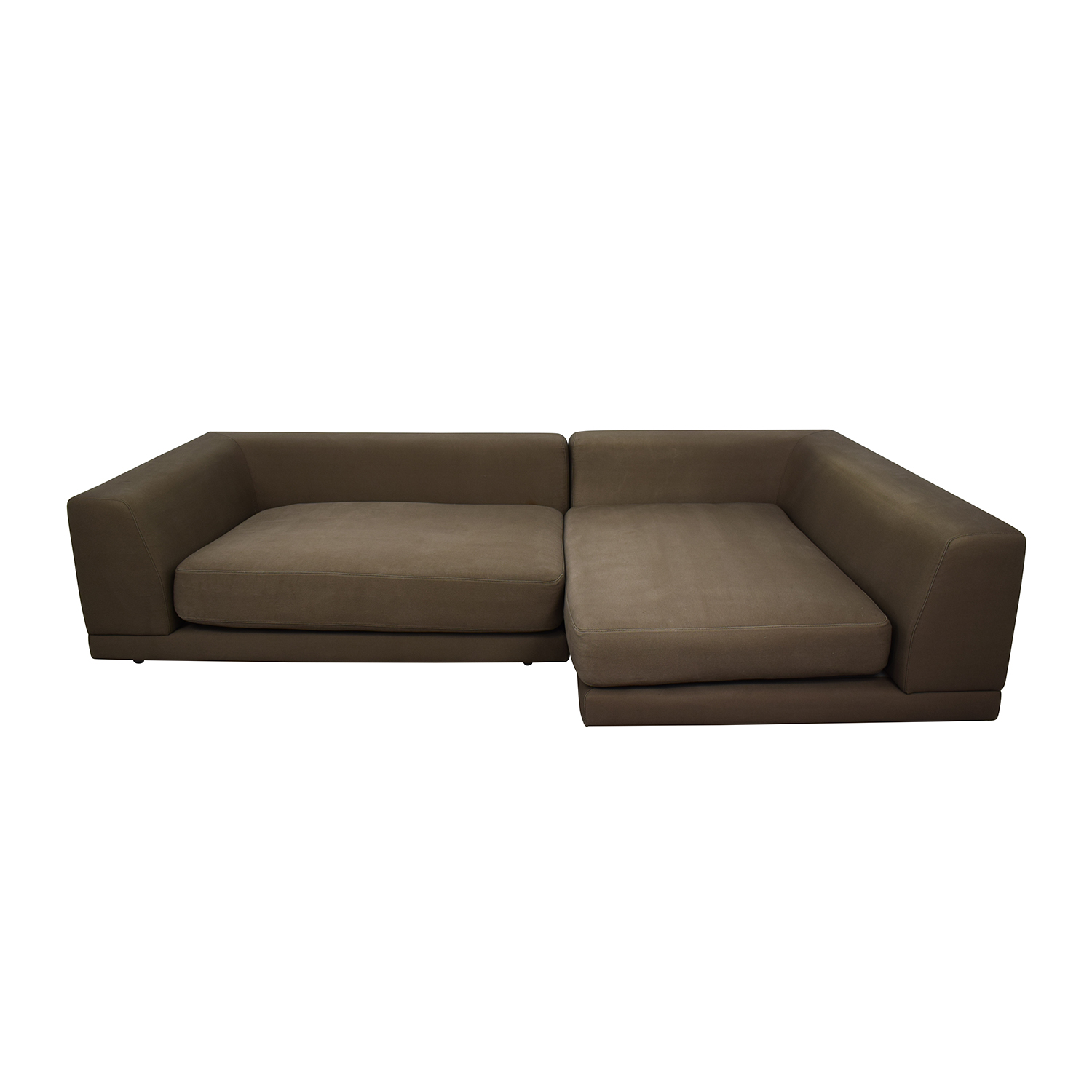 CB2 Uno Two-Piece Right Arm Sectional Sofa / Sectionals