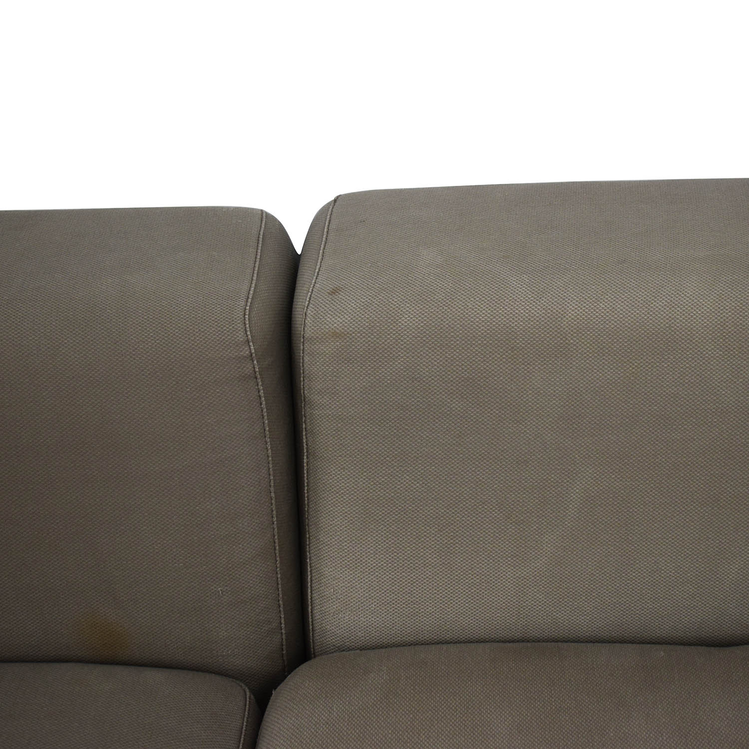 shop CB2 Uno Two-Piece Right Arm Sectional Sofa CB2 Sectionals