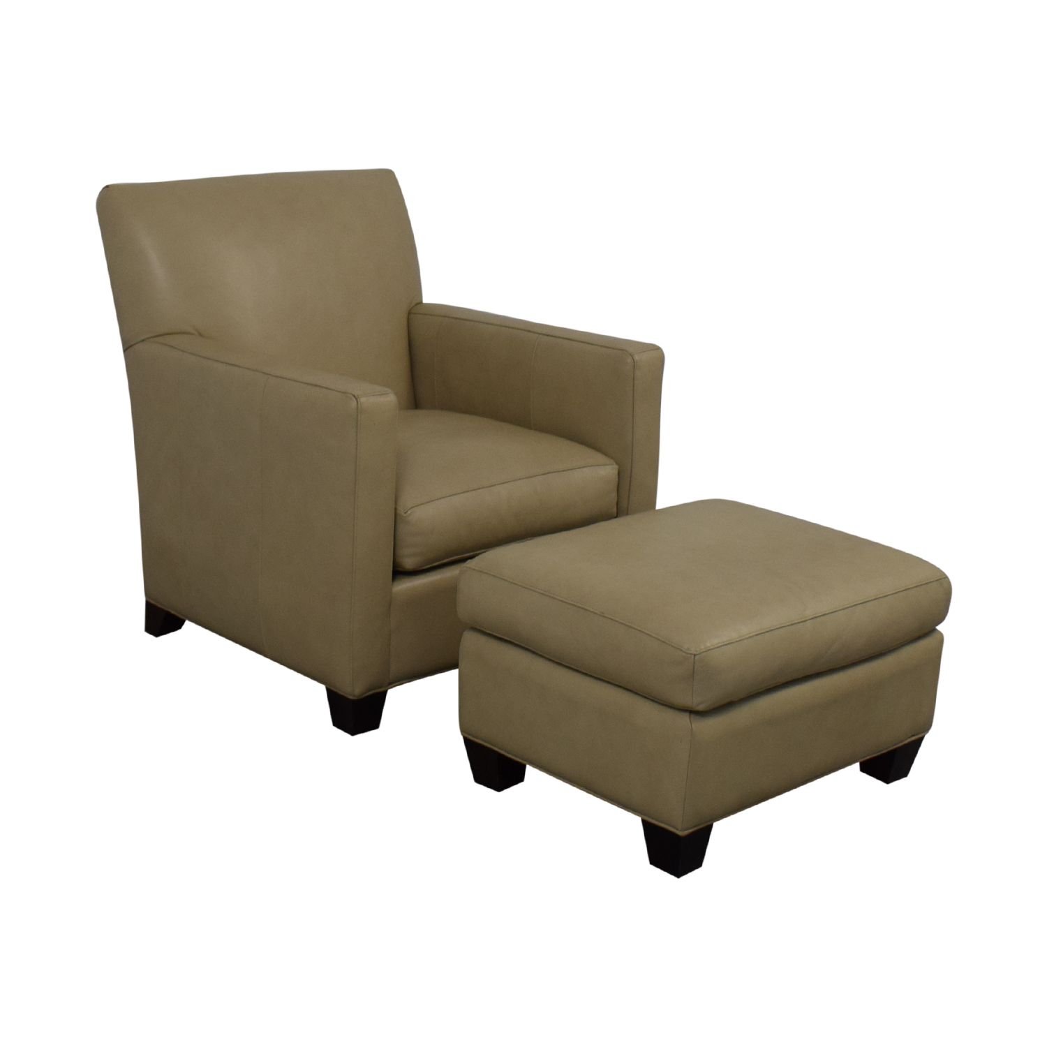 Crate & Barrel Crate & Barrel Accent Chair With Ottoman for sale
