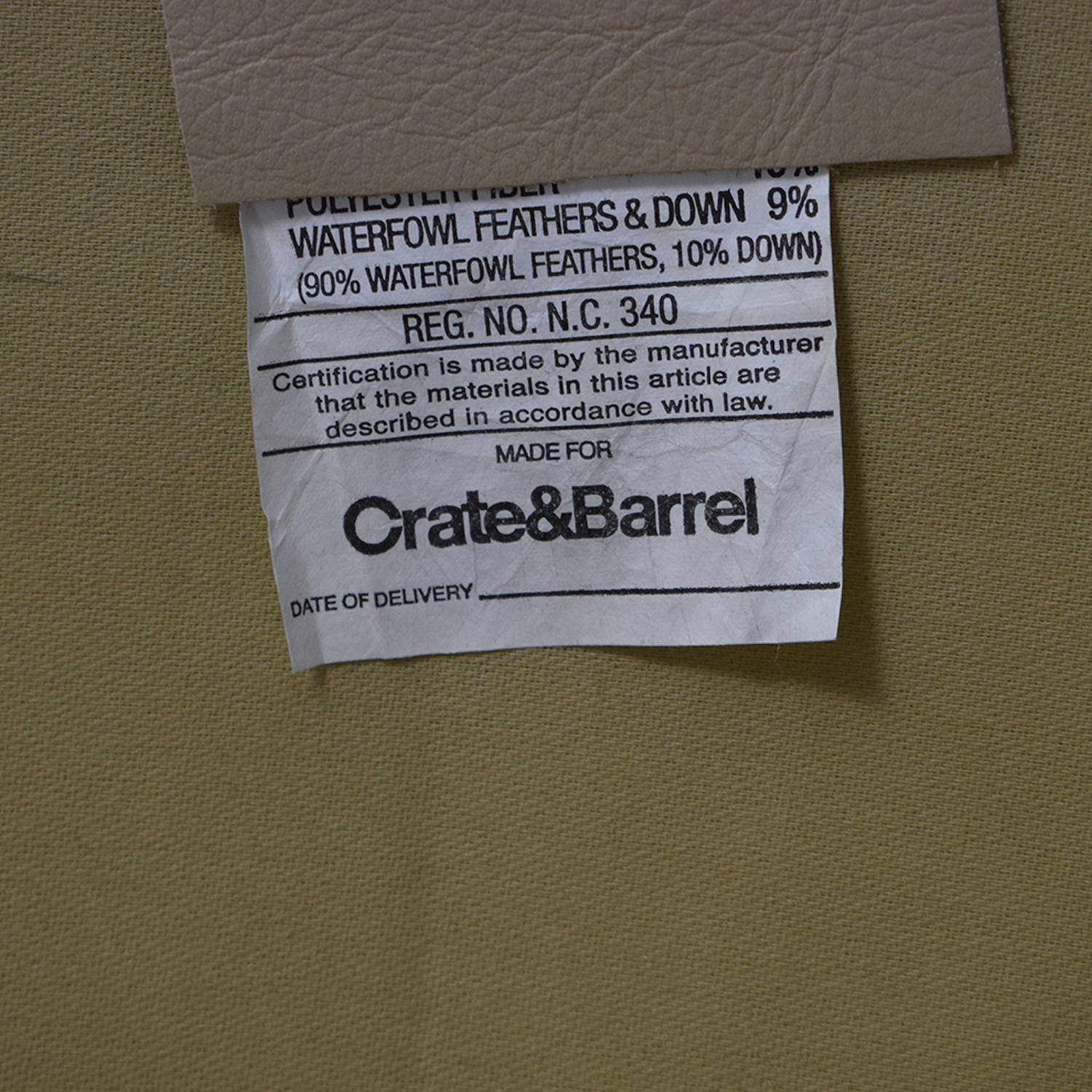 Crate & Barrel Crate & Barrel Accent Chair With Ottoman dimensions
