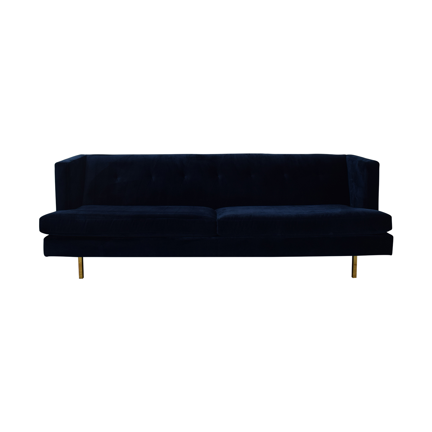 shop CB2 Avec Sofa with Brass Legs CB2 Sofas