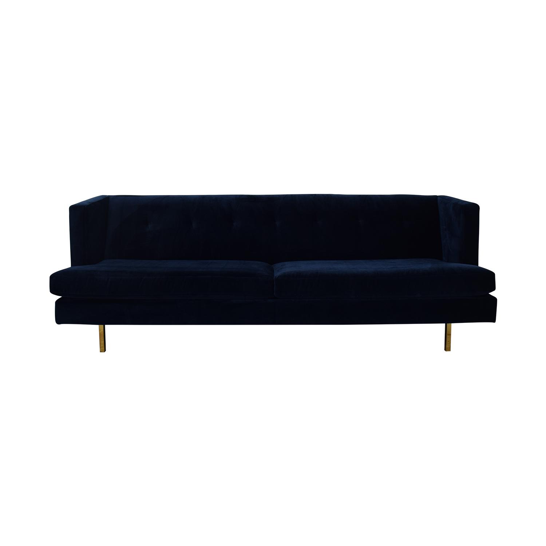 shop CB2 Avec Sofa with Brass Legs CB2 Classic Sofas
