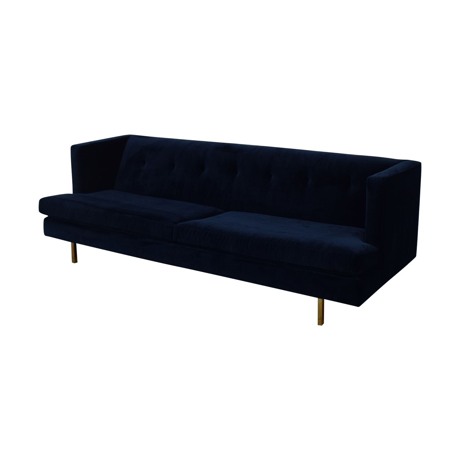 CB2 CB2 Avec Sofa with Brass Legs dimensions