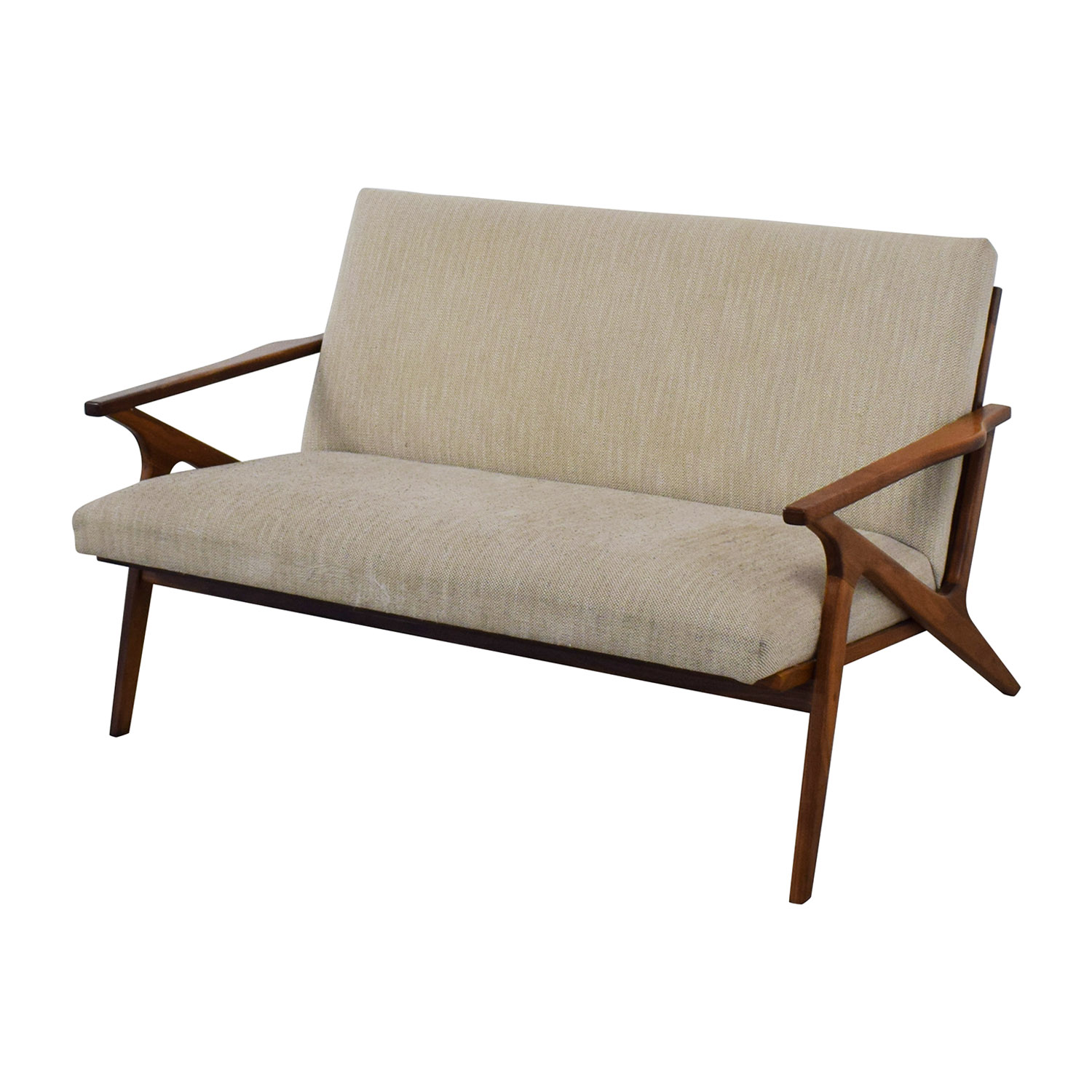buy Crate & Barrel Cavett Wood Frame Loveseat Crate & Barrel