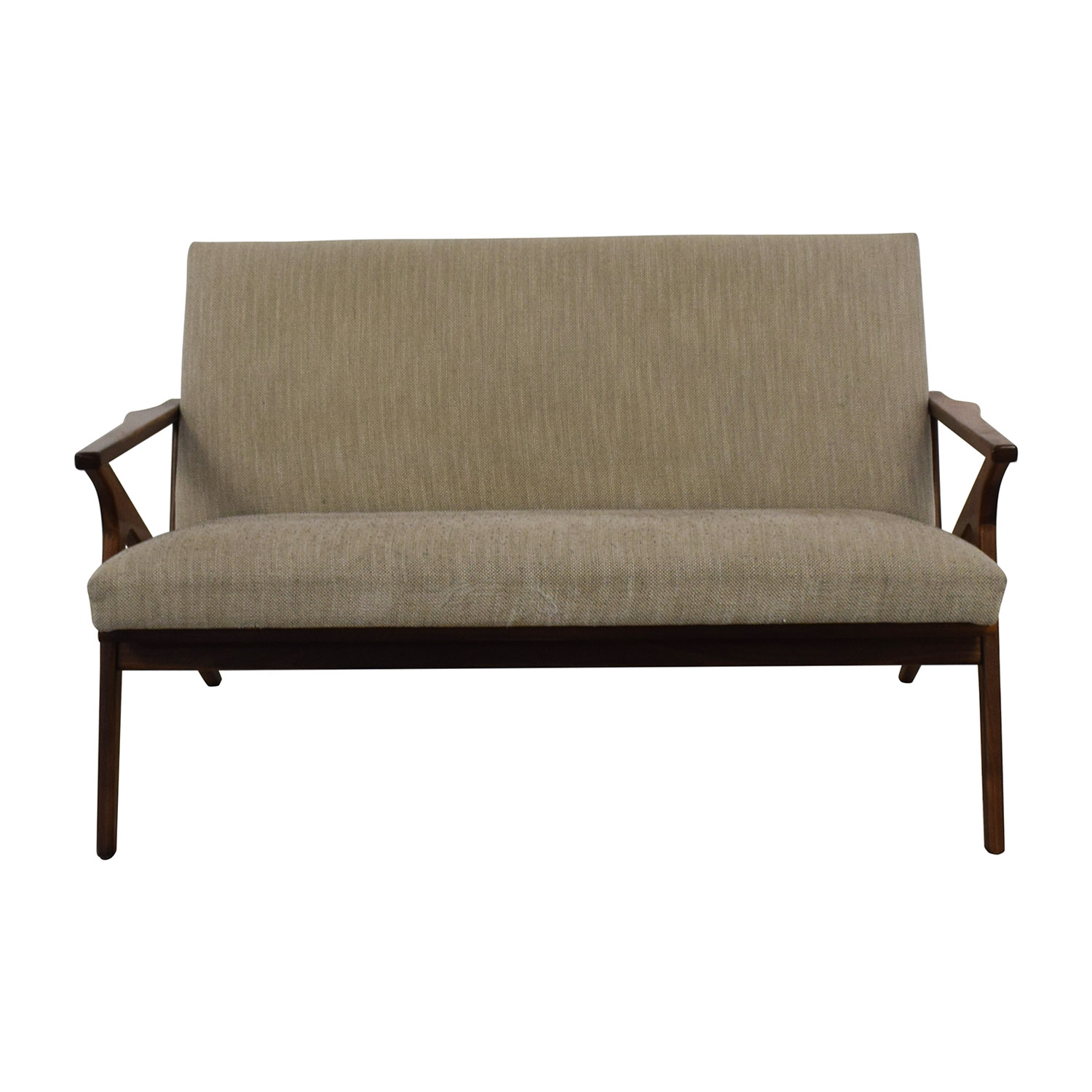 Crate & Barrel Crate & Barrel Cavett Wood Frame Loveseat used