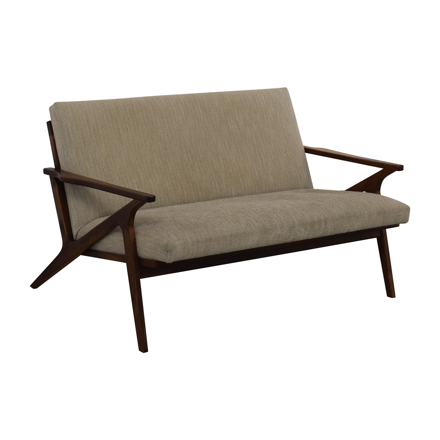 Crate & Barrel Crate & Barrel Cavett Wood Frame Loveseat