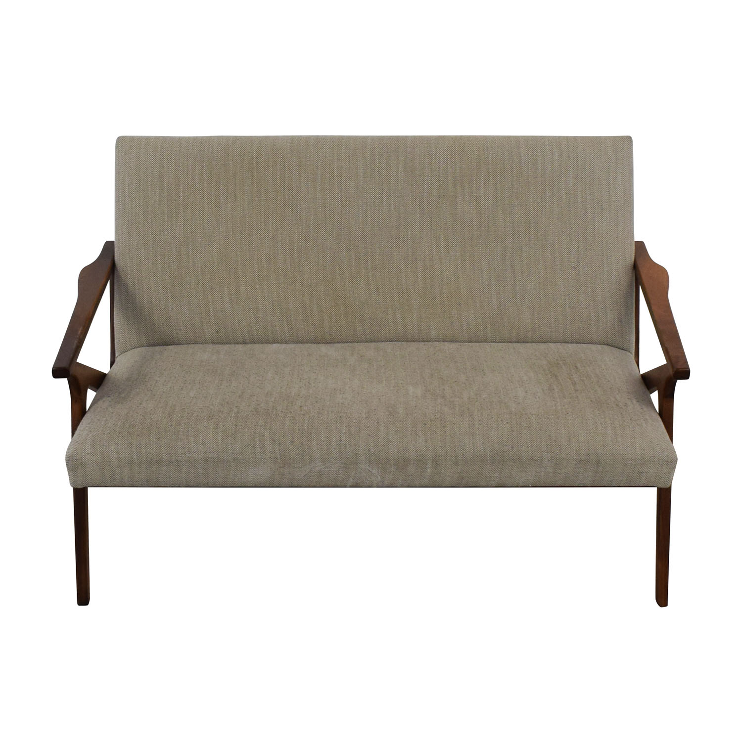 Crate & Barrel Crate & Barrel Cavett Wood Frame Loveseat Loveseats
