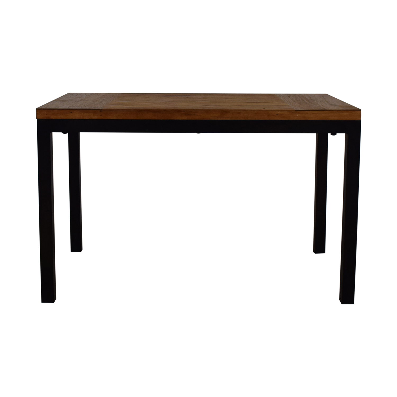 Crate & Barrel Parsons Kitchen Table With Metal Frame / Dinner Tables