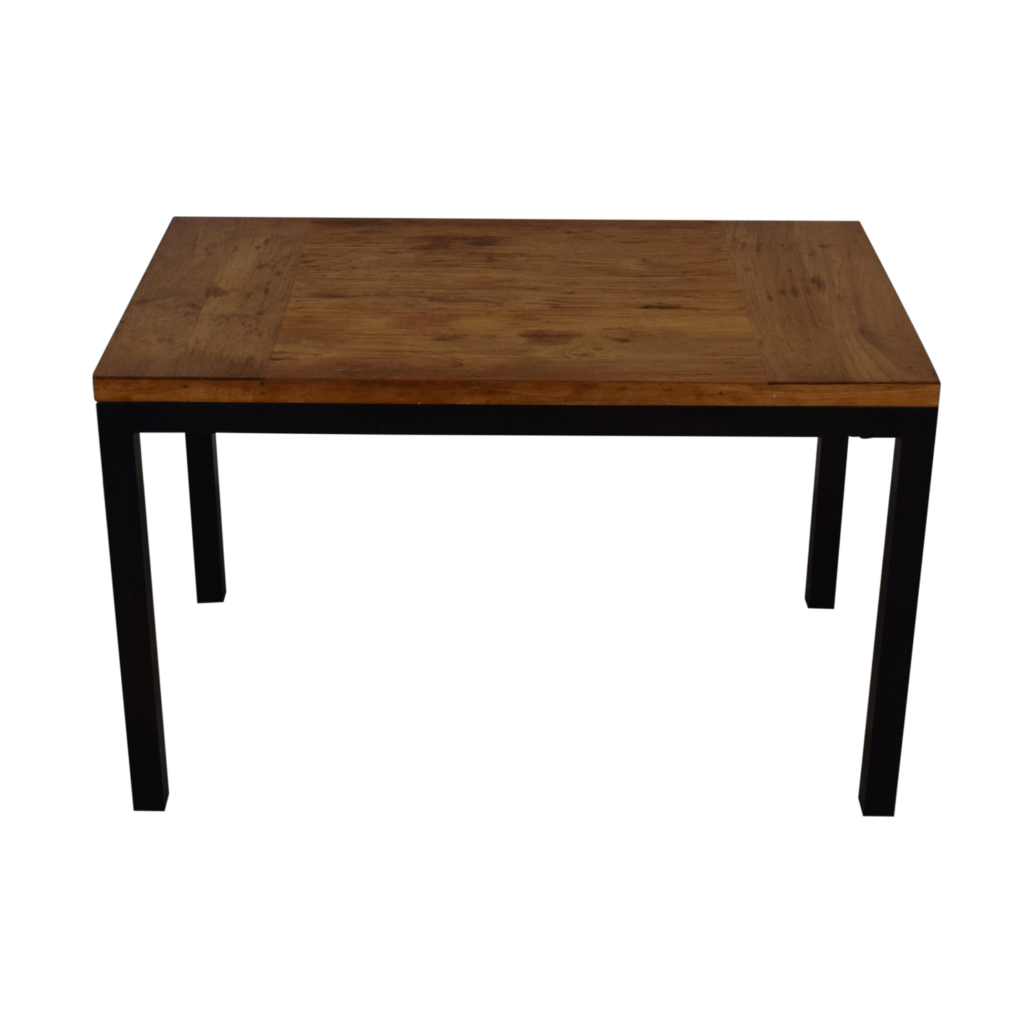 shop Crate & Barrel Parsons Kitchen Table With Metal Frame Crate & Barrel Dinner Tables