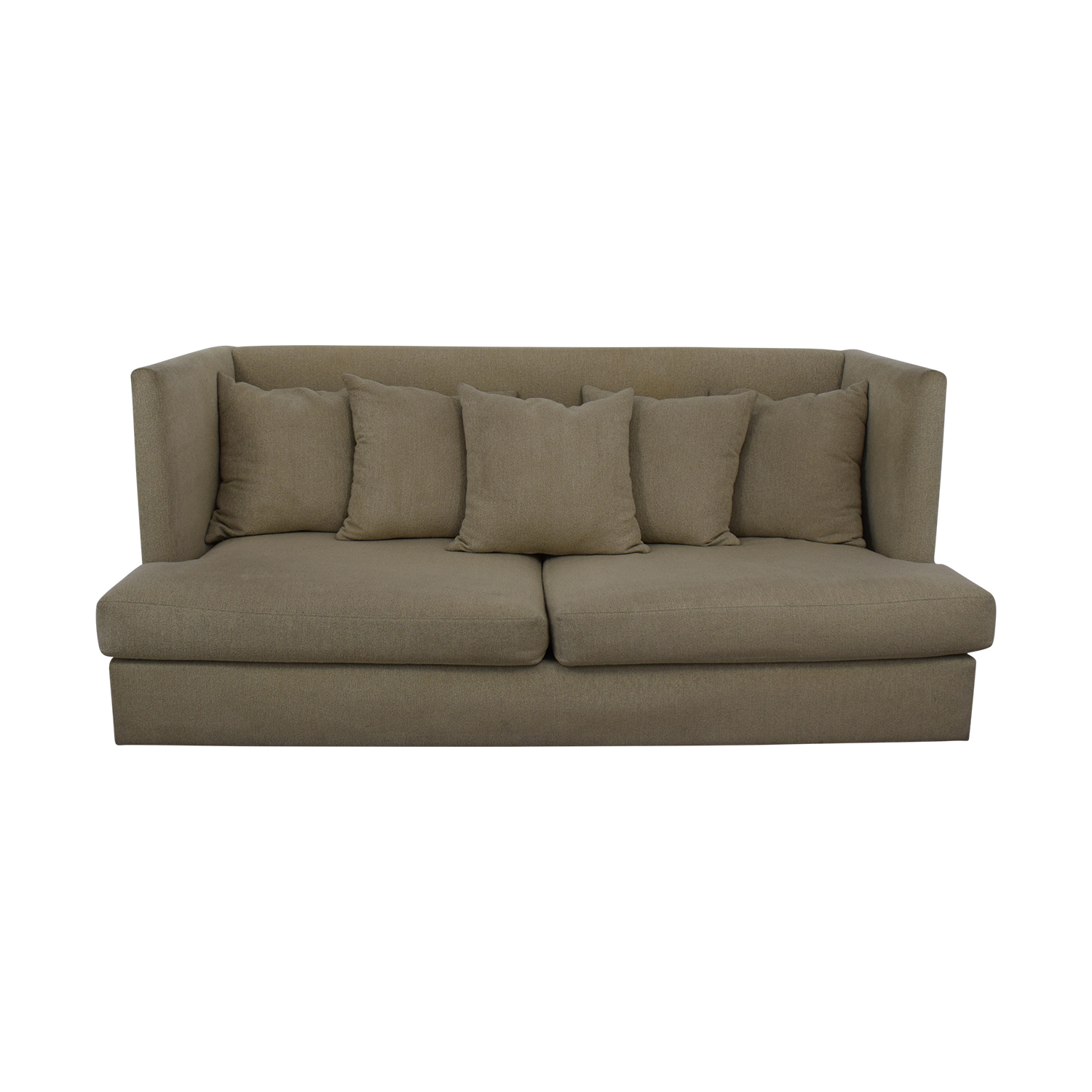 Crate & Barrel Crate & Barrel Milo Baughman Shelter Sofa dimensions