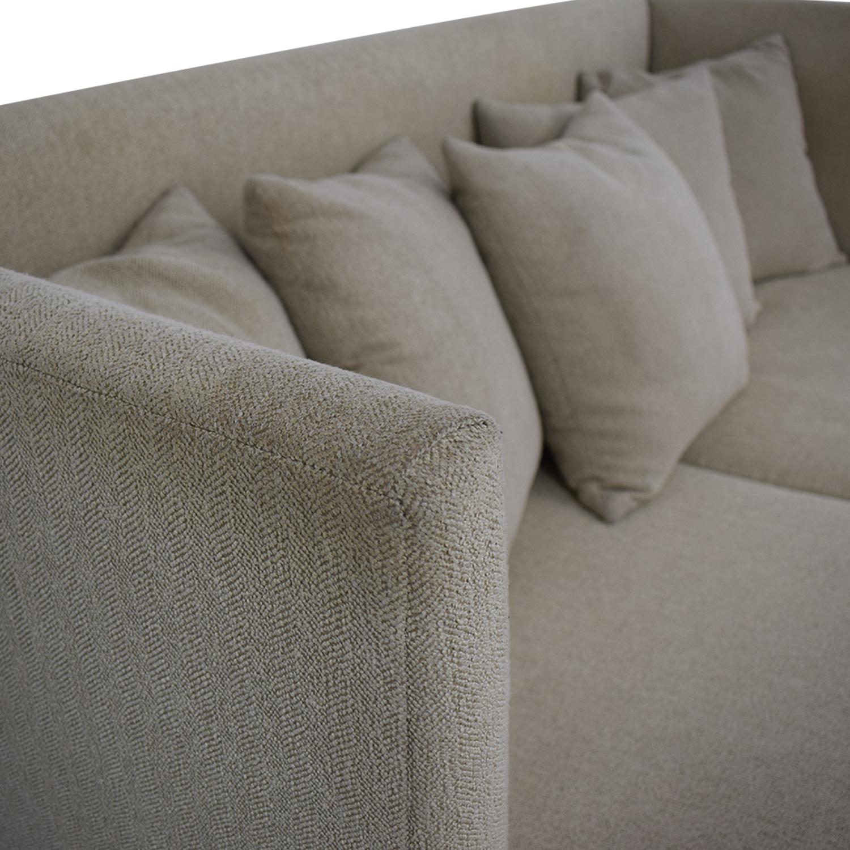 Crate & Barrel Crate & Barrel Milo Baughman Shelter Sofa Classic Sofas