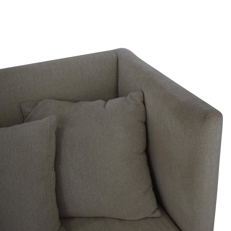 Crate & Barrel Crate & Barrel Milo Baughman Shelter Sofa dimensions