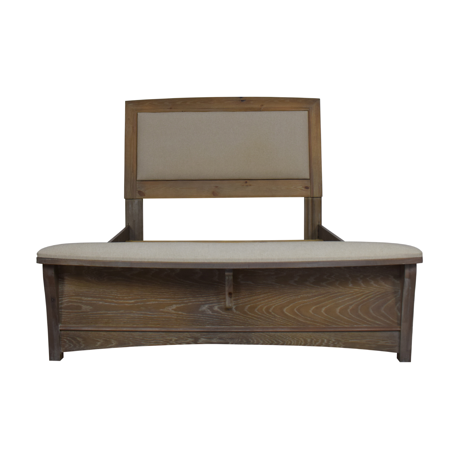 Vaughan-Bassett Vaughan-Bassett Transitions Queen Upholstered Bed with Bench dimensions