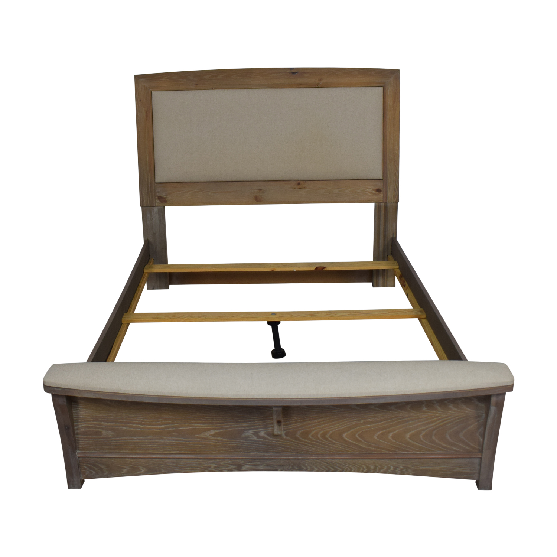 Vaughan-Bassett Vaughan-Bassett Transitions Queen Upholstered Bed with Bench gray