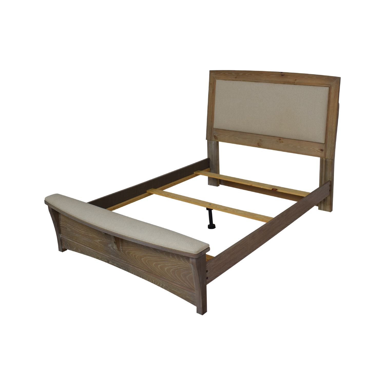 Vaughan-Bassett Vaughan-Bassett Transitions Queen Upholstered Bed with Bench second hand