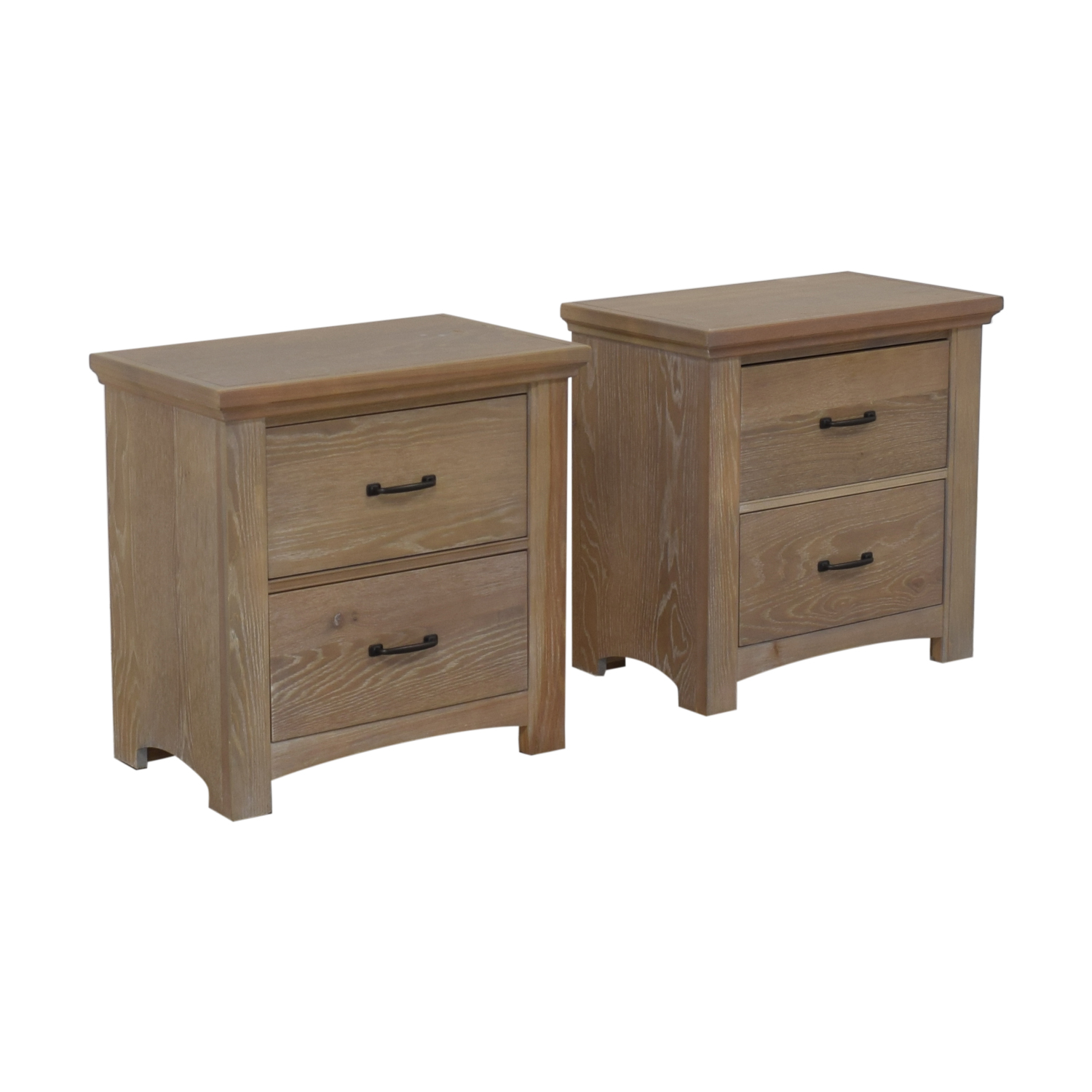 Vaughan-Bassett Vaughan-Basset Transitions Two Drawer Nightstands End Tables