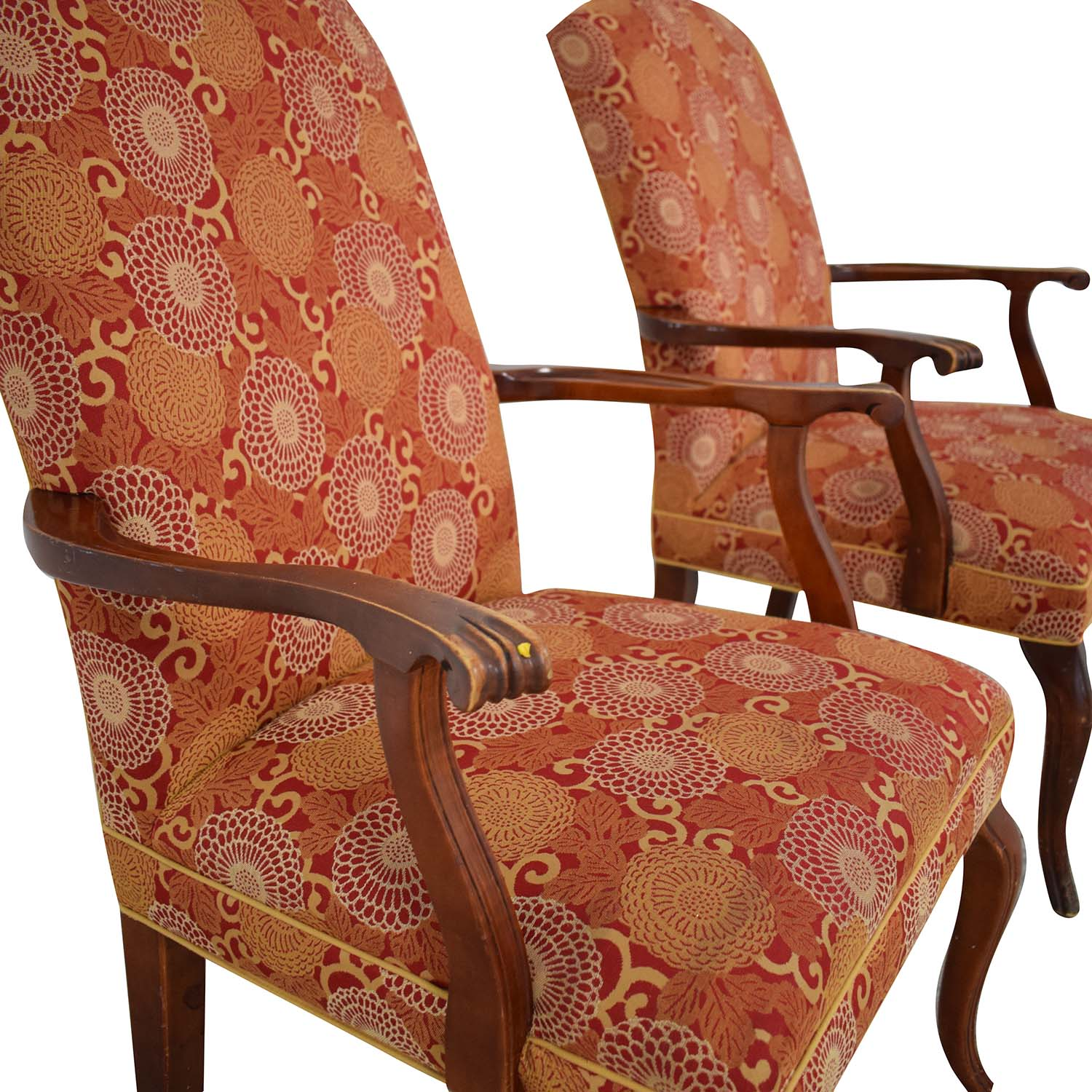 Ethan Allen Ethan Allen Patterned Armchairs Dining Chairs