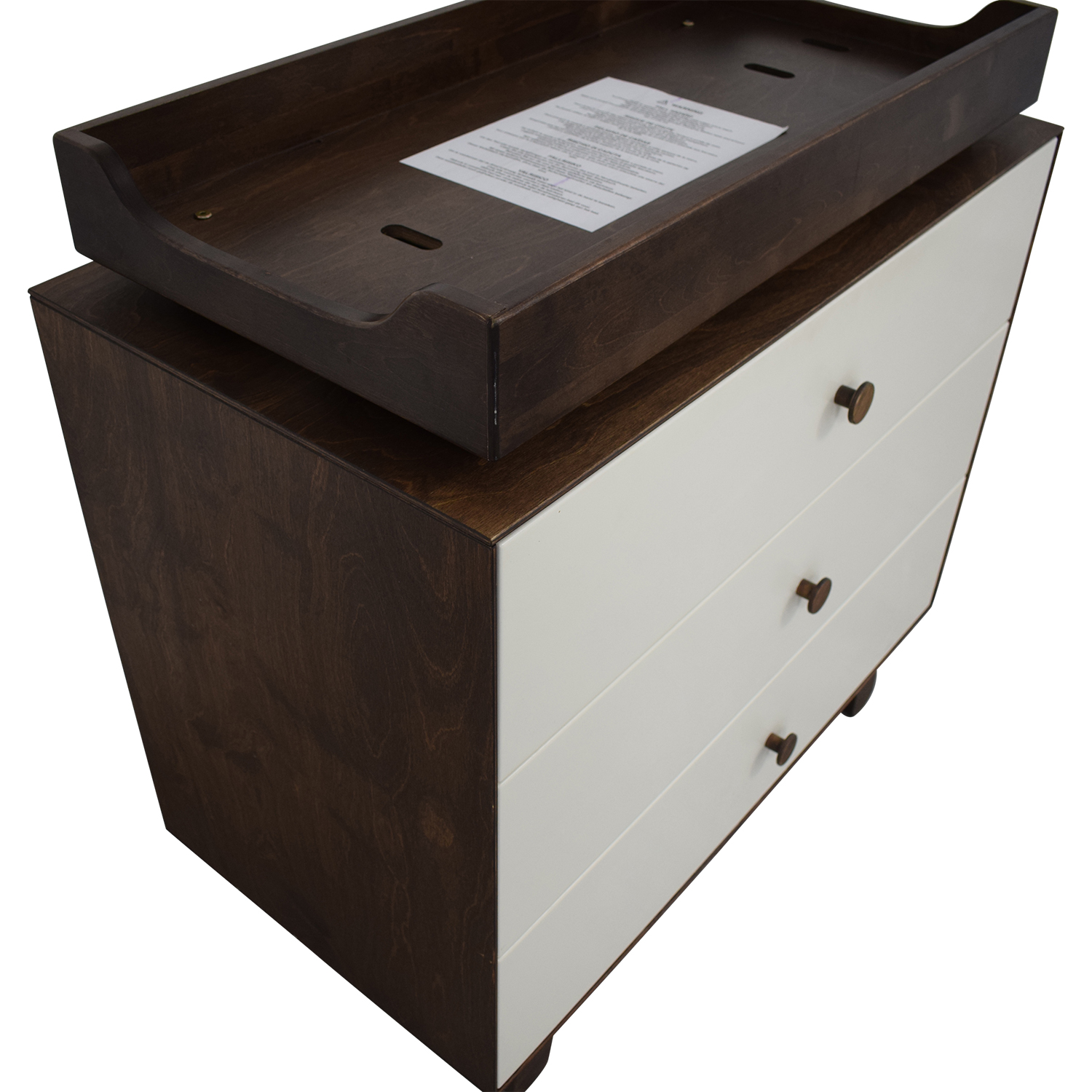 Oeuf Oeuf Sparrow Three Drawer Changing Table brown/white