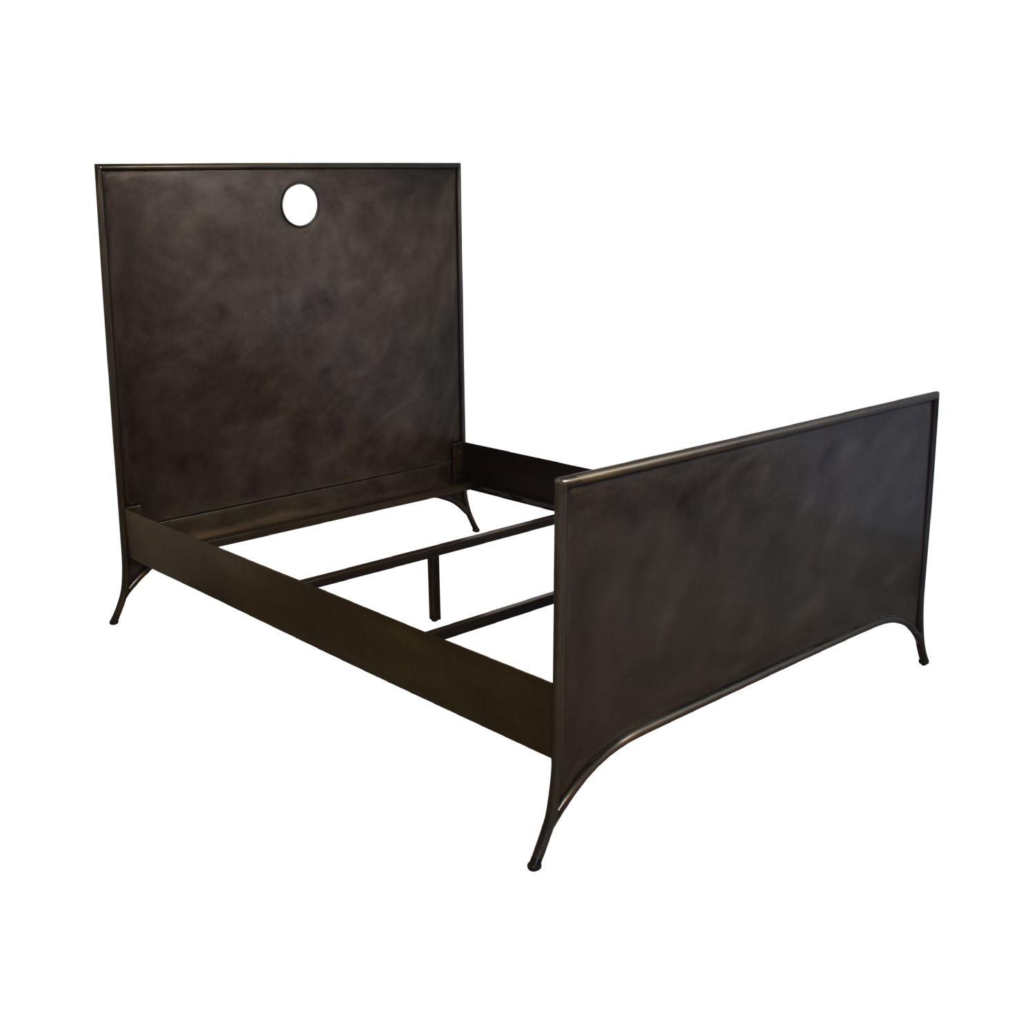 Restoration Hardware Restoration Hardware Queen 19th C. Keyhole Metal Square Bed with Footboard second hand