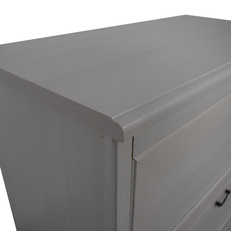 shop IKEA White Three-Drawer Dresser IKEA Dressers