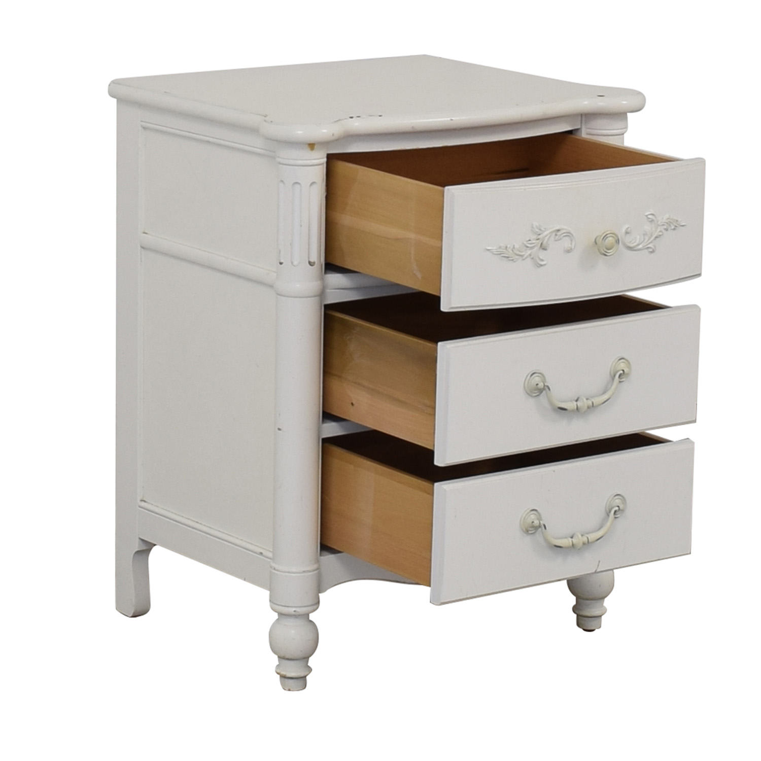 shop Stanley Furniture Young America White Three-Drawer Nightstand Stanley Furniture Tables