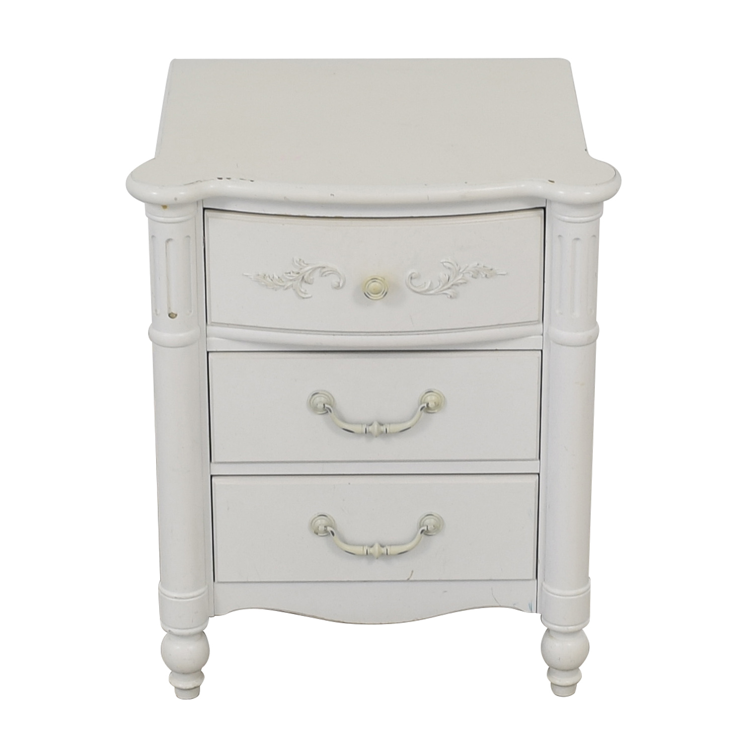 buy Stanley Furniture Young America White Three-Drawer Nightstand Stanley Furniture Tables