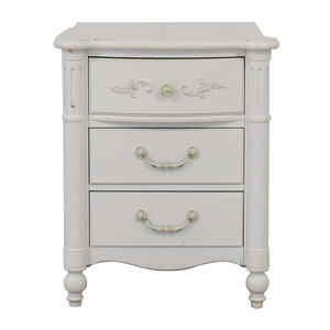 Stanley Furniture Stanley Furniture Young America White Three-Drawer Nightstand second hand