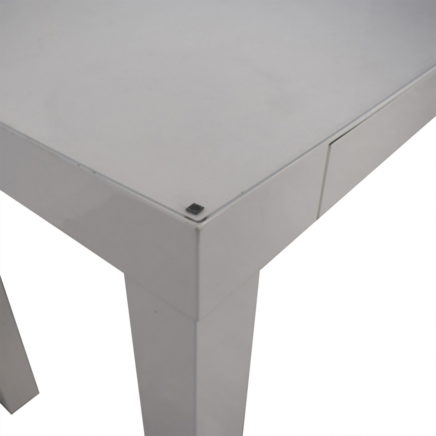 White Two-Drawer Desk on sale