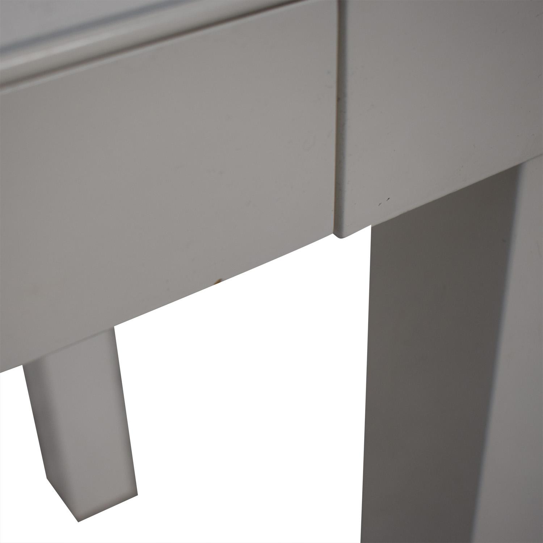 shop White Two-Drawer Desk