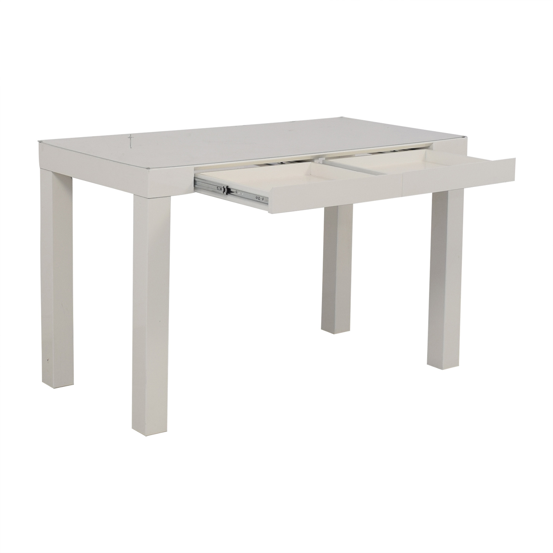 buy White Two-Drawer Desk