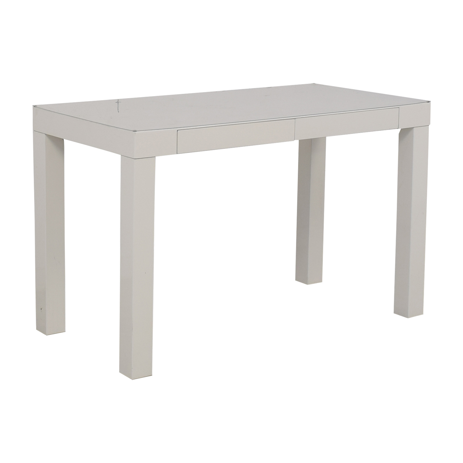 White Two-Drawer Desk discount