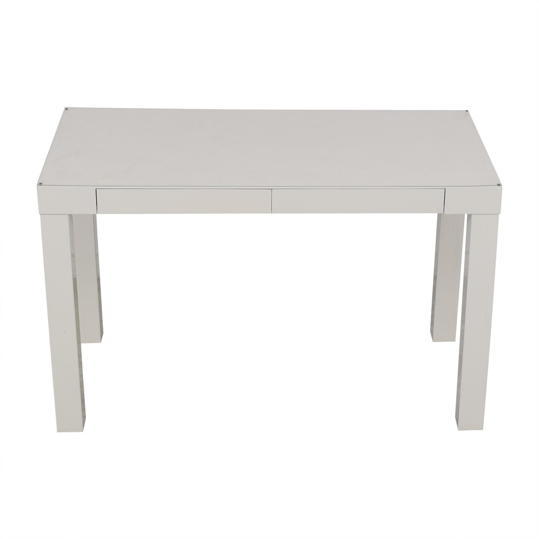 White Two-Drawer Desk nj
