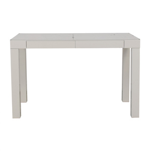 White Two-Drawer Parsons Style Desk sale