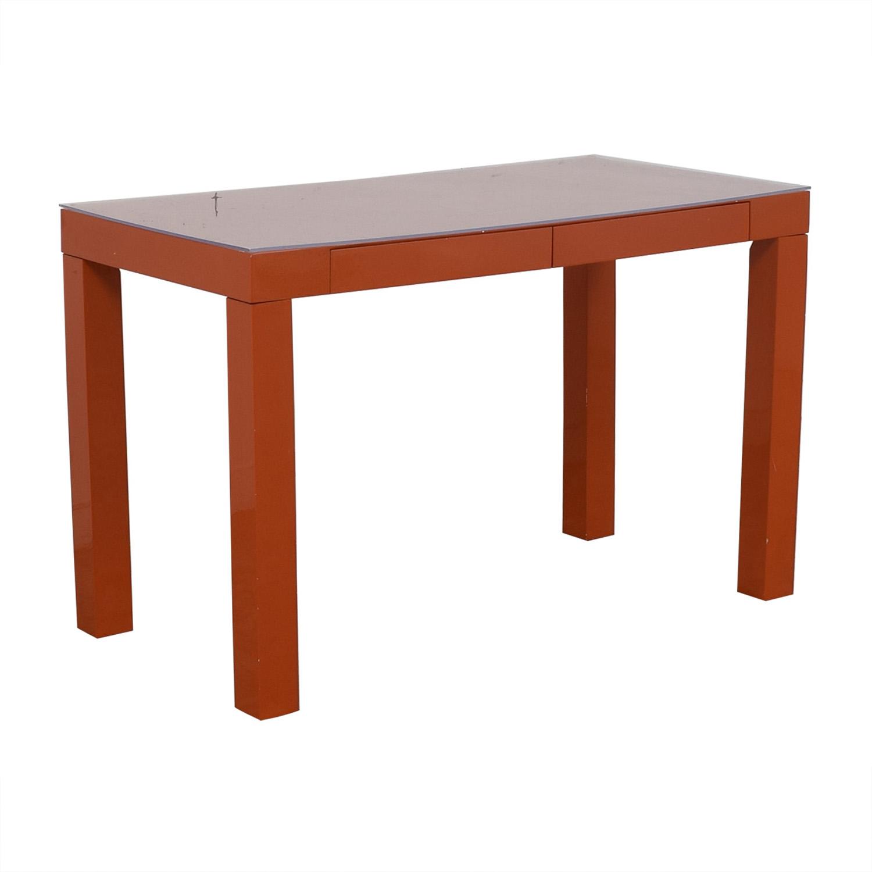 shop  Two-Drawer Orange Parsons Style Desk online