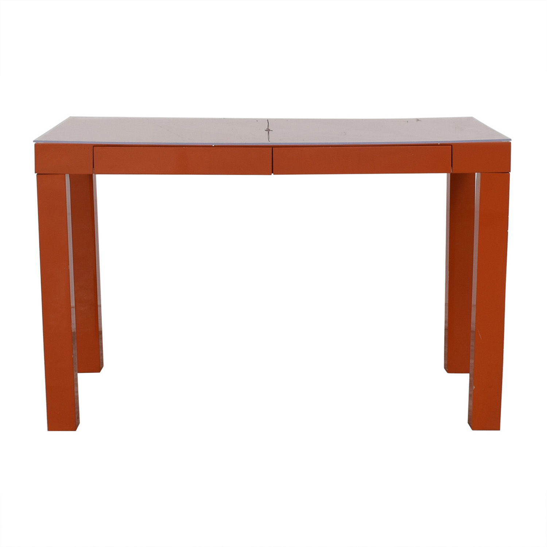 Two-Drawer Orange Parsons Style Desk / Home Office Desks