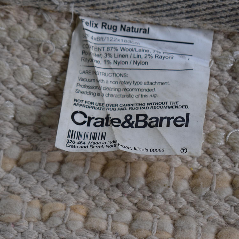 Crate & Barrel Felix Shag Rug Crate & Barrel