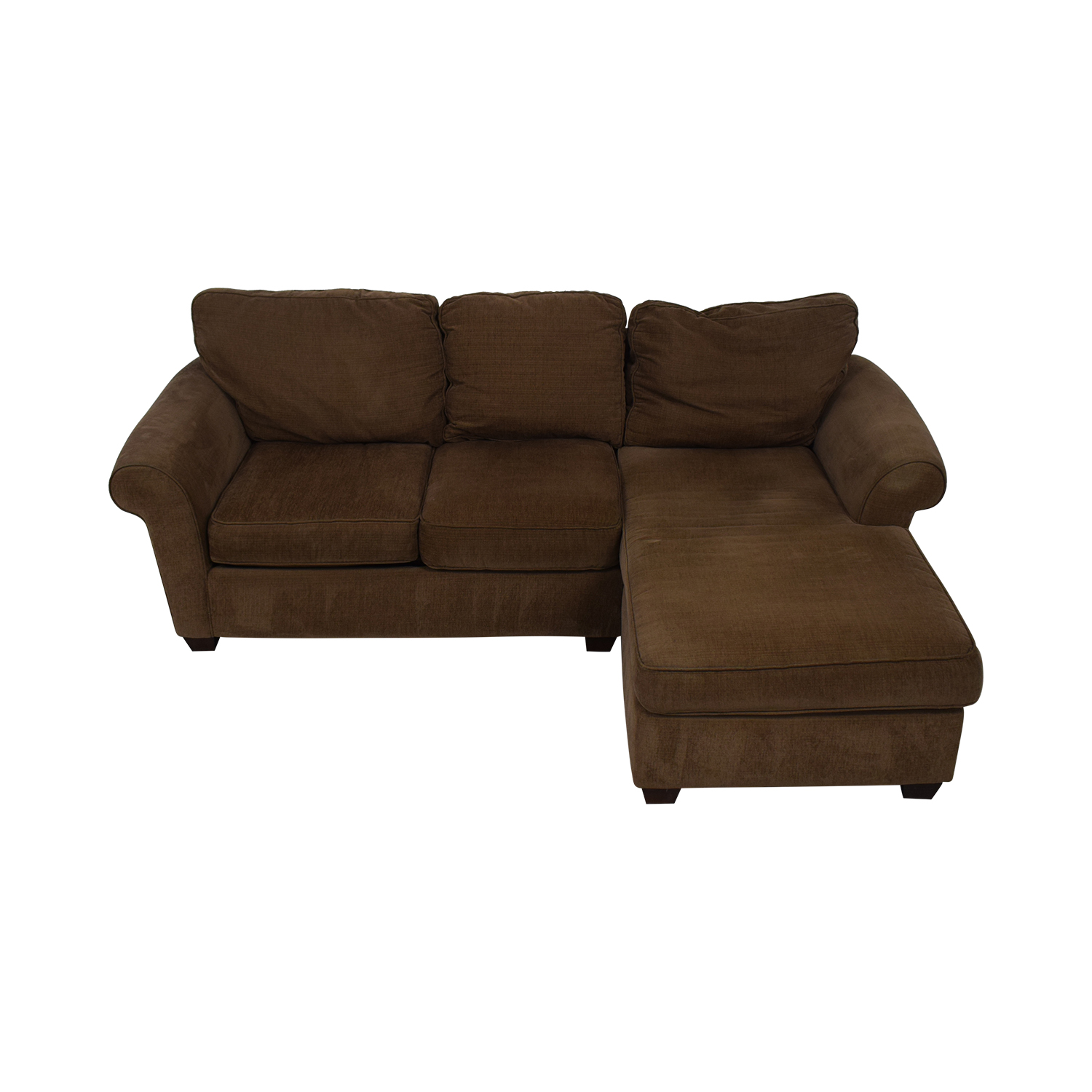 83 Off Bauhaus Furniture Brown Sofa With Chaise Sofas